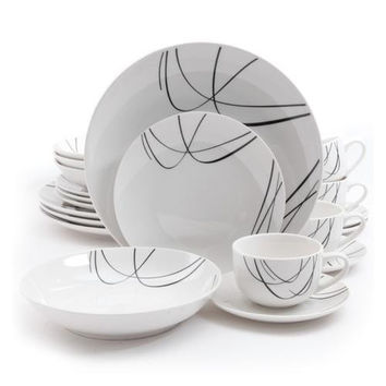 Gibson Home Holloway 20 Piece Porcelain Dinnerware Set