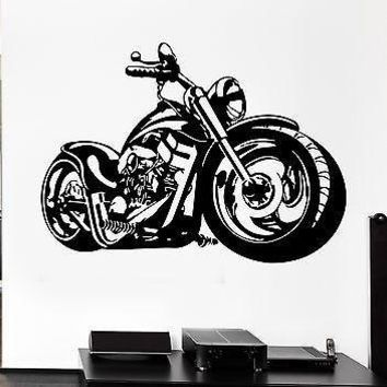 Wall Decal Decor Bike Biker Speed Motorcycle Anarchy Rock Unique Gift (z2646)