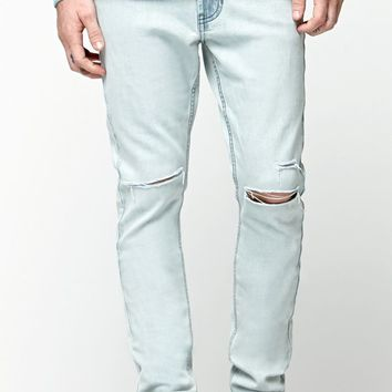Bullhead Denim Co Stacked Skinny Destroyed Jeans - Mens Jeans - Super Destructed
