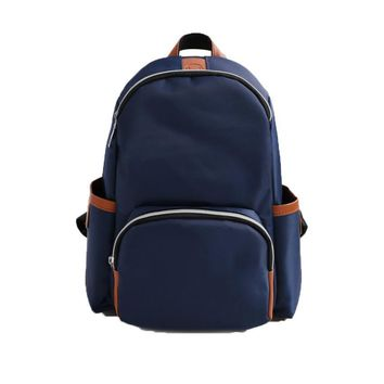 Fashion Nylon Leisure backpack Solid Color travel bags for men and women Vintage small backpacks for teenage girls mochila#LREW