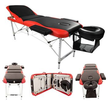 New 3 Sections Folding Bodybuilding Massage Table for SPA Bodybuilding Salon