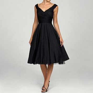 JS Collections Women's Point D'esprit Dance Evening Dress | Overstock.com
