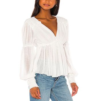 Free People - Day Dreaming Long Sleeve Top - More Colors