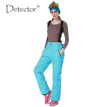 DKF4S Detector -35 degree snow pants plus size elastic waist lady trousers winter skating pants skiing outdoor ski pants for women