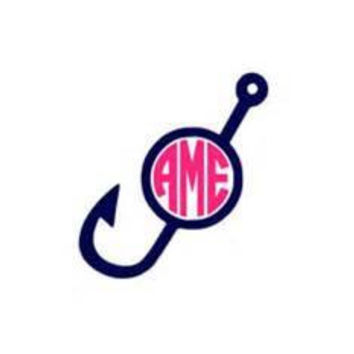 Hook and Monogram Decal