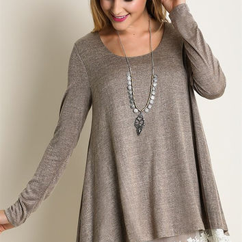 A Touch of Lace Tunic - Mocha