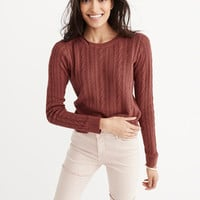Womens Crew Knit Sweater | Womens Tops | Abercrombie.com