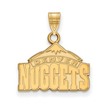 NBA Denver Nuggets Small Logo Pendant in 14k Yellow Gold