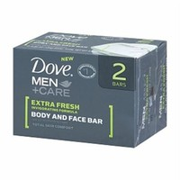 DOVE MEN + CARE EXTRA FRESH BODY & FACE BAR 2-4.25 OZ