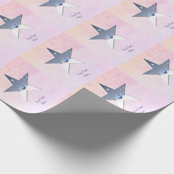 Star Template Wrapping Paper