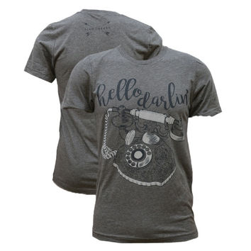 Southern Couture Lightheart Hello Darlin Front Print Triblend T-Shirt