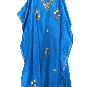 Mogul Womens Caftan Stylish Cruise Silk Embroidered Kimono Kaftan One Size: Amazon.ca: Clothing & Accessories