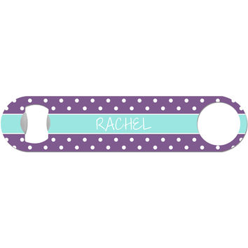 Custom Polka Dot - Personalized Bottle Opener