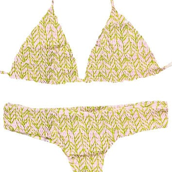 Tori Praver | Kalani Top + Saffron Bottom Bikini Separates (India Lime)