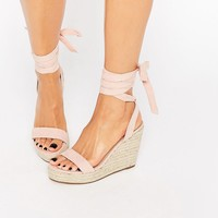 ASOS TALENT Tie Leg Wedge Sandals at asos.com