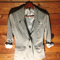 Blazer w/ Suede Elbow Patches