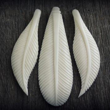 Leaf Set Carved Bone