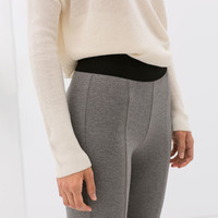 Leggings with zipper