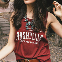 Summer NASHVILLE Printed Vest Top