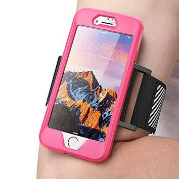 iPhone 7 Armband, iPhone 8 Armband SUPCASE Easy Fitting Sport Running Armband Case with Premium Flexible Case Combo for Apple iPhone 7 2016 / iPhone 8 2017 (Pink)