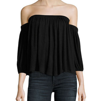 Ella Moss Gioannia Off-The-Shoulder Textured Top
