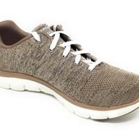 Skechers Taupe & Natural Flex Appeal 2.0 - High Energy Shoes