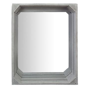 Crate Wall Mirror (Grey)