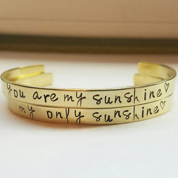 You Are My Sunshine My Only Sunshine Bracelet Set