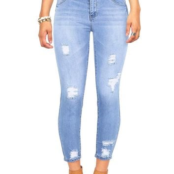 Abbreviated Cropped Skinny Jeans