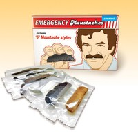 'Emergency Moustache' Plaksnor - Set van 6