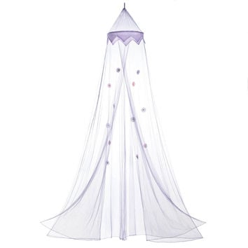 Princess Canopy, Purple Bed Canopy For Bedroom - Polyester