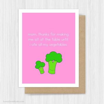Funny Mothers Day Card For Mom Mother Mum Cute Foodie Pun Fun Happy Birthday Day Thanks Thank You Handmade Greeting Cards Gifts Gift Ideas