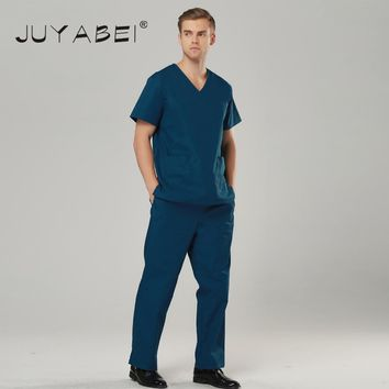 V-Neck  Doctor Nurse Uniform Hospital Medical Scrub Short Sleeve Unisex Surgical Medical Uniform