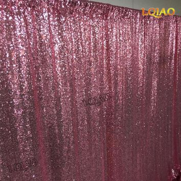 Pink Gold Sequin Curtain-W150xL250cm Shimmer Sequin Fabric Photography Backdrop Luxury Curtains for Bedroom Window Curtains