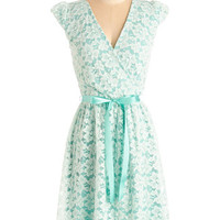 Pastel Mid-length Cap Sleeves A-line Fancy You There Dress