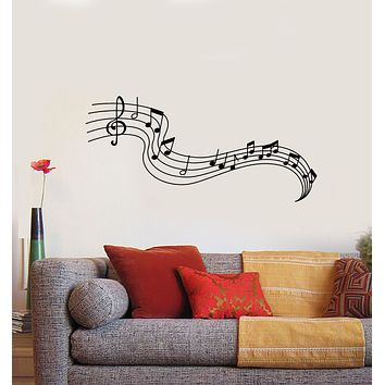 Vinyl Wall Decal Music Notes Paper Musical Keys Composer Stickers Mural (g403)