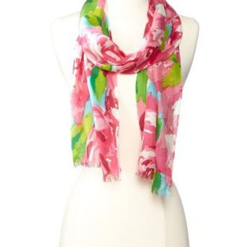 Lilly Pulitzer Women's Murfette Scarf, Hotty Pink First Impressions, One Size