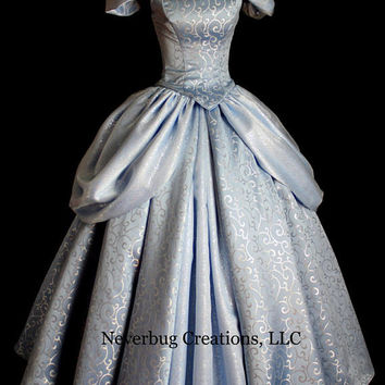 Cinderella New Parks Custom Costume (NOTE: NEW FABRIC)