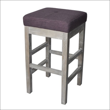 Valencia Backless Bar Stool Mystique Gray Legs, Lavender