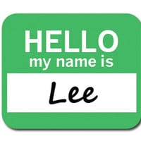 Lee Hello My Name Is Mouse Pad - No. 2