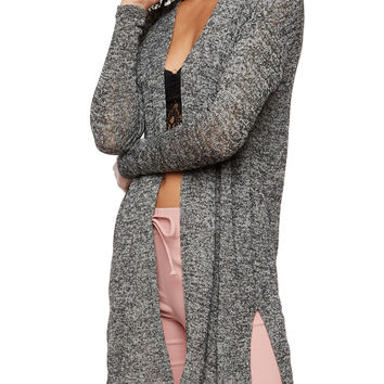 Long Sleeve Side Slit Cardigan