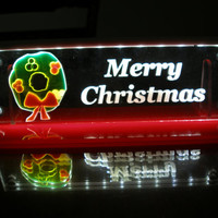 LED lighted Christmas decoration window room night light small panel  Merry Christmas wreath