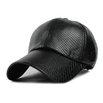 Baseball Cap women Hats For men fall Leather cap Trucker cap casquette snapback