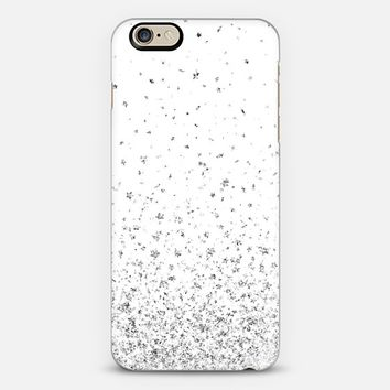 White and Silver Stars Rain iPhone 6 case by Organic Saturation | Casetify