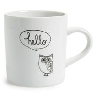 Natural Life 'Owl - Hello' Ceramic Mug