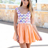 WALL ART MINI DRESS , DRESSES, TOPS, BOTTOMS, JACKETS & JUMPERS, ACCESSORIES, 50% OFF SALE, PRE ORDER, NEW ARRIVALS, PLAYSUIT, COLOUR, GIFT VOUCHER,,Print,CUT OUT,Orange,SLEEVELESS,MINI Australia, Queensland, Brisbane