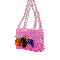 Fruit Beaded Handbag Mini Beaded Purse