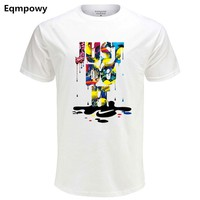 Eqmpow Fashion T-shirt men Just Do It Letter Printed O Neck Men's Tshirts Hip-Hop Short Sleeve Cotton T Shirt Tops male clothing