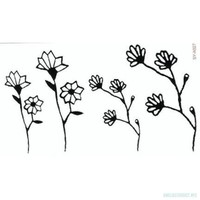 Simple Flower Temporary Tattoo