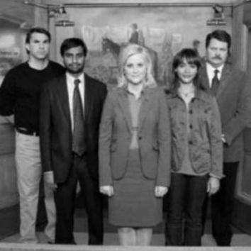 "Parks And Recreation Poster Black and White Poster 24""x36"""
